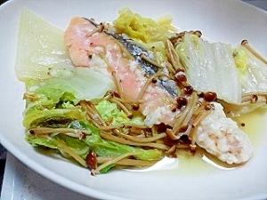 味付けは塩麹のみ☆こく旨☆鮭と白菜の塩麹蒸し焼き