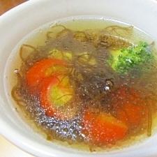 ダイエットにも最適!もずく酢とトマトのスープ
