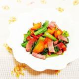小松菜とベーコンのスパイス炒め