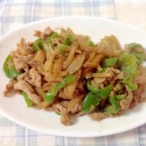 豚肉と菊芋の生姜ごま炒め(o^^o)