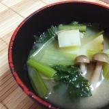 ジャガイモ&シメジ&小松菜の味噌汁