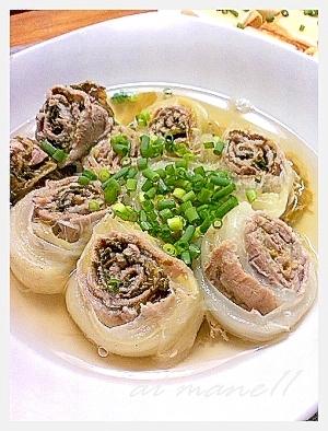 ロールキャベツじゃなくて・・・白菜と豚肉のロール煮