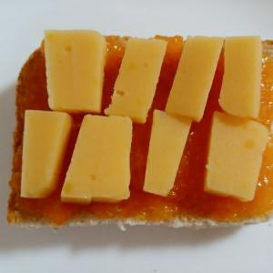 芋羊羹みかんジャムトースト
