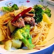 ひと鍋で手間なしブロッコリーとじゃが芋のパスタ