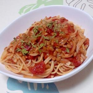 納豆トマトスパ++