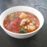 チキンと大豆のトマト煮込み