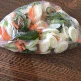 スープに便利!白ネギと人参の冷凍