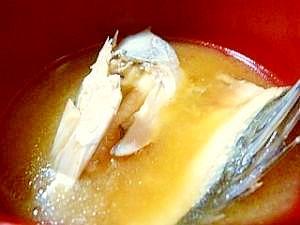 スズキのあらの味噌汁