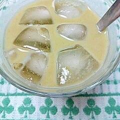 塩麹で!アイス☆青汁きなこミルク♪