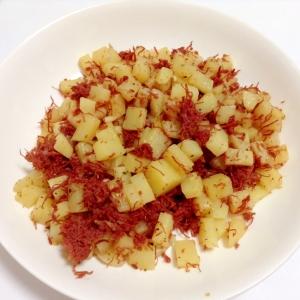 コーンビーフとジャガイモのジャーマンポテト