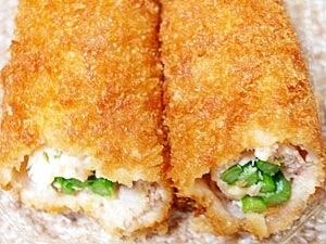 いんげんとチーズの鶏ささみカツ