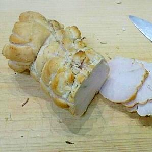 塩麹とストウブで鶏ハム