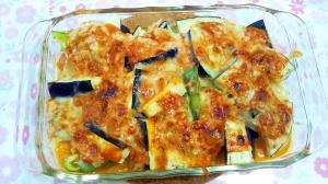 ツナソースで野菜のチーズ焼き++