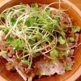 ご飯が進む美味しさ!!納豆と豚ひき肉の丼