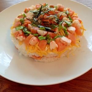 海鮮寿司ケーキ