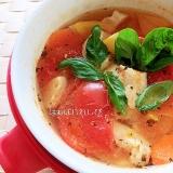 クイックボウルで簡単♪チキンのトマトスープ煮