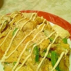 豆腐&アボカド&チーズのとろとろオムレツ