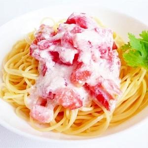 トマトとヨーグルトの冷製パスタ