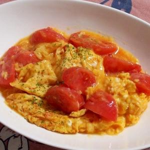 とろふわ♪トマトの玉子炒め
