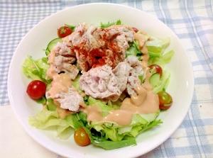 ボリューム満点(^○^)肉サラダ♪