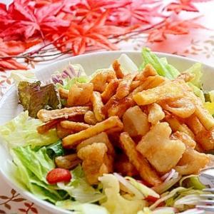秋野菜のシャキシャキサラダ