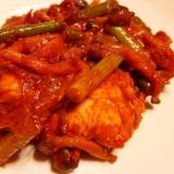 鶏肉のレッドカレー炒め-なんちゃってエスニック