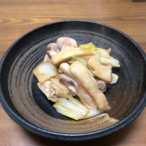 鶏肉と白菜の簡単和風炒め