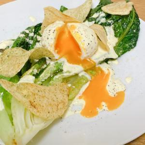 トロッと半熟卵の焼きシーザーサラダ のりしお風味