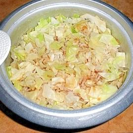ダイエットメニュー キャベツの炊き込みご飯