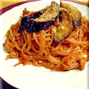 麺つゆが決め手★茄子と豚小間のナポリタン