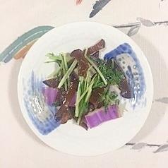 紫白菜、きくらげ、水菜の炒め物