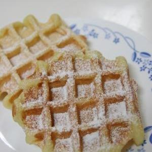 ホットケーキミックスで簡単もちもち♪お豆腐ワッフル