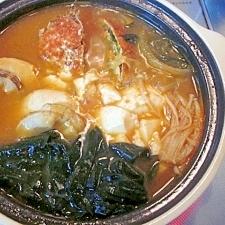 韓国でも人気☆ 「カニ入り海鮮チゲ」