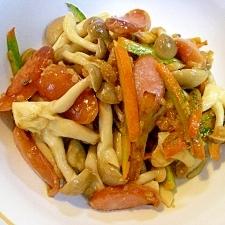 醤油麹 ❤ソーセージ&かぼちゃ皮&しめじの炒め物❤
