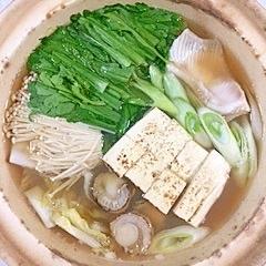 かすべと帆立の鍋物