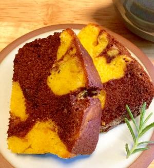 ふんわり★かぼちゃとココアのパウンドケーキ