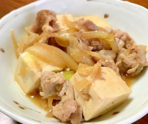 めんつゆで簡単味付け☆肉豆腐