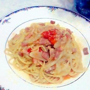 ★簡単★ トマトとベーコンのあっさりパスタ