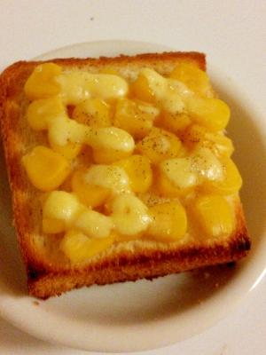 簡単★朝ごパン★マスタードコーンマヨネーズトースト