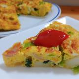 野菜たっぷり栄養満点☆スパニッシュチーズオムレツ