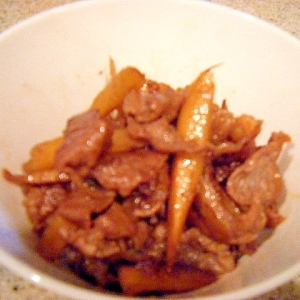 山椒がポイント@牛肉とごぼうのしぐれ煮