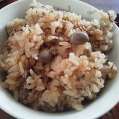 大豆と昆布の炊き込みご飯