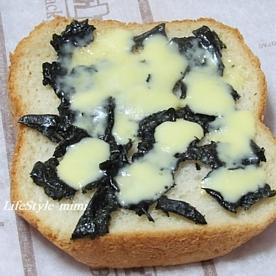 焼き海苔とチーズで簡単食パンピザ 1310