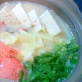 鮭入り豆乳鍋