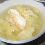 明太キャベツ豆腐のスープ