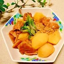 ジャガイモとさつま揚げ、麩☆煮物