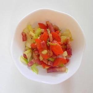 ベーコンと野菜の炒めもの