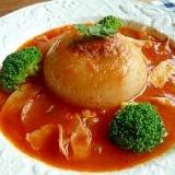 まるごと新玉ねぎの肉詰め★トマトソース煮