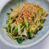 ごまたっぷり★えのきとキュウリの中華冷菜
