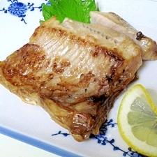 料亭の焼魚☆ 「一夜干ホッケのレモン焼」